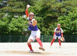 鹿島東部、猛打で優勝 県中学女子ソフトボール