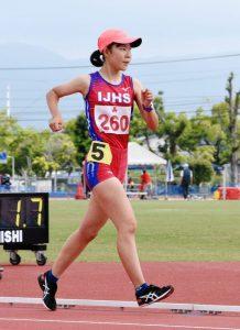 <県高校総体 陸上>野口(伊万里実)17年ぶり県新 女子5000競歩 攻め貫き、会心レース